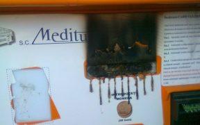 Aparatele de bilete ale Meditur au fost distruse