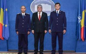 Placheta de Onoare a M.A.I. pentru doi poliţişti sibieni