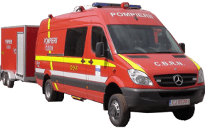 Detaşamentul de Pompieri Sibiu prezenţi la datorie