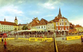 Sibiu Sands, primul turneu de volei pe plajă organizat vreodată în centrul istoric al unui oraș din România