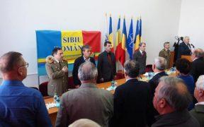 Vicepreședintele CJ Constantin Luca alături de cadrele militare în rezervă