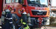 Incendiu în Mediaș din cauza unui scurt circuit produs la centrala termică a apartamentului