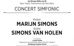 Joi, seara concertului simfonic la Filarmonică