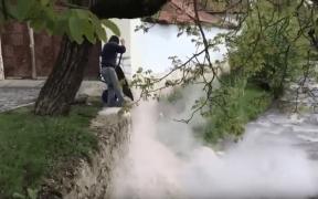 VIDEO: Cum se arunca gunoiul la Sibiel