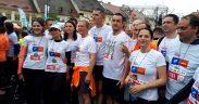FOTO: Barna şi Cioloş au alergat pentru cauze nobile