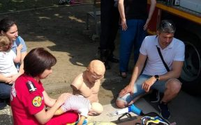 Pompierii sibieni punct de atracție la Festivalul Smart Park