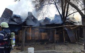 Două tone de fân si o anexă gospodărească au ars în satul Coveș