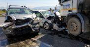 Accident rutier cu patru victime la intrarea pe autostrada A1