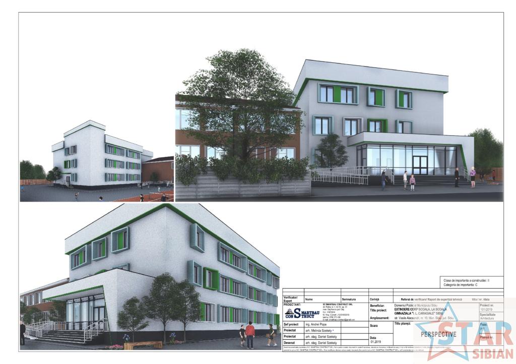 Școala I.L. Caragiale din Sibiu se extinde