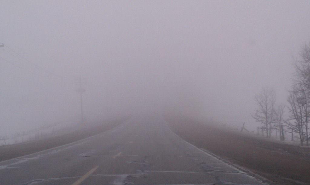 Cod galben de ceață în județul Sibiu
