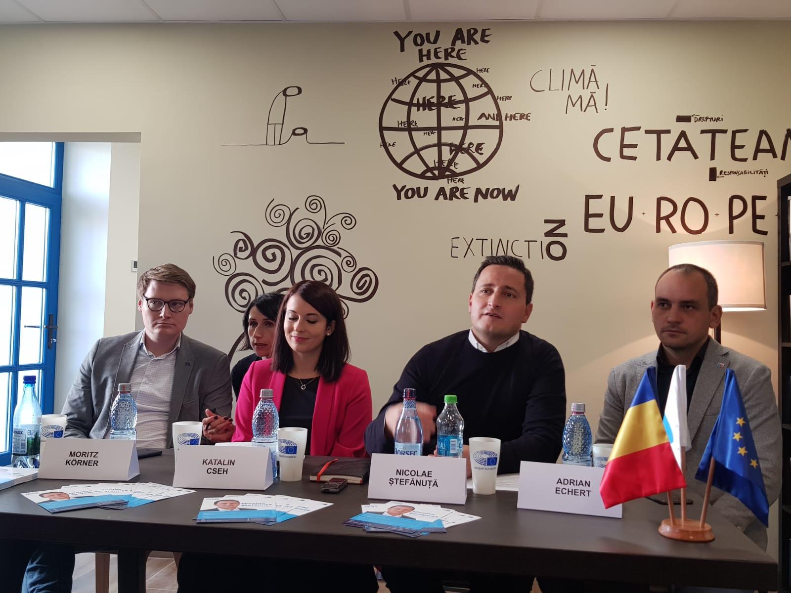 Nicu Ștefănuță și-a deschis  birou europarlamentar la Sibiu pe strada Turnului