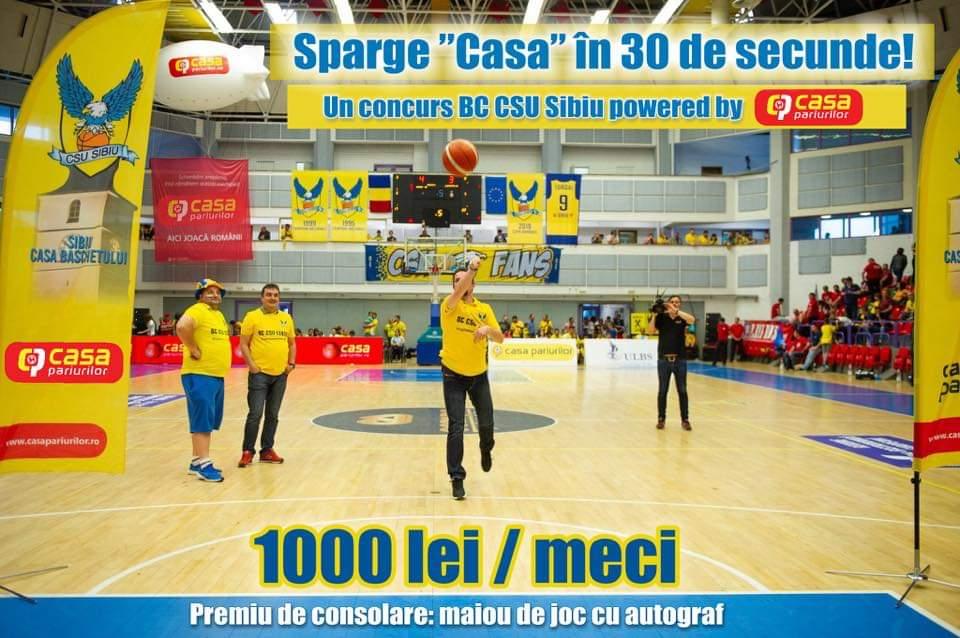 """Sparge """"Casa BC CSU Sibiu"""" în 30 de secunde"""