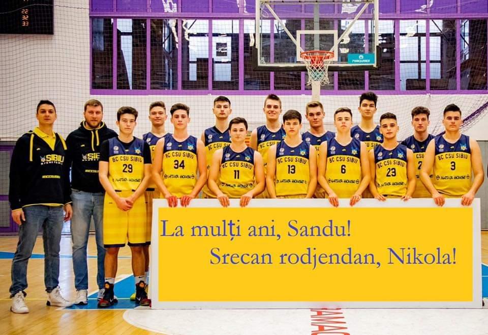BC CSU Sibiu: La mulți ani, Sandu & Nikola!