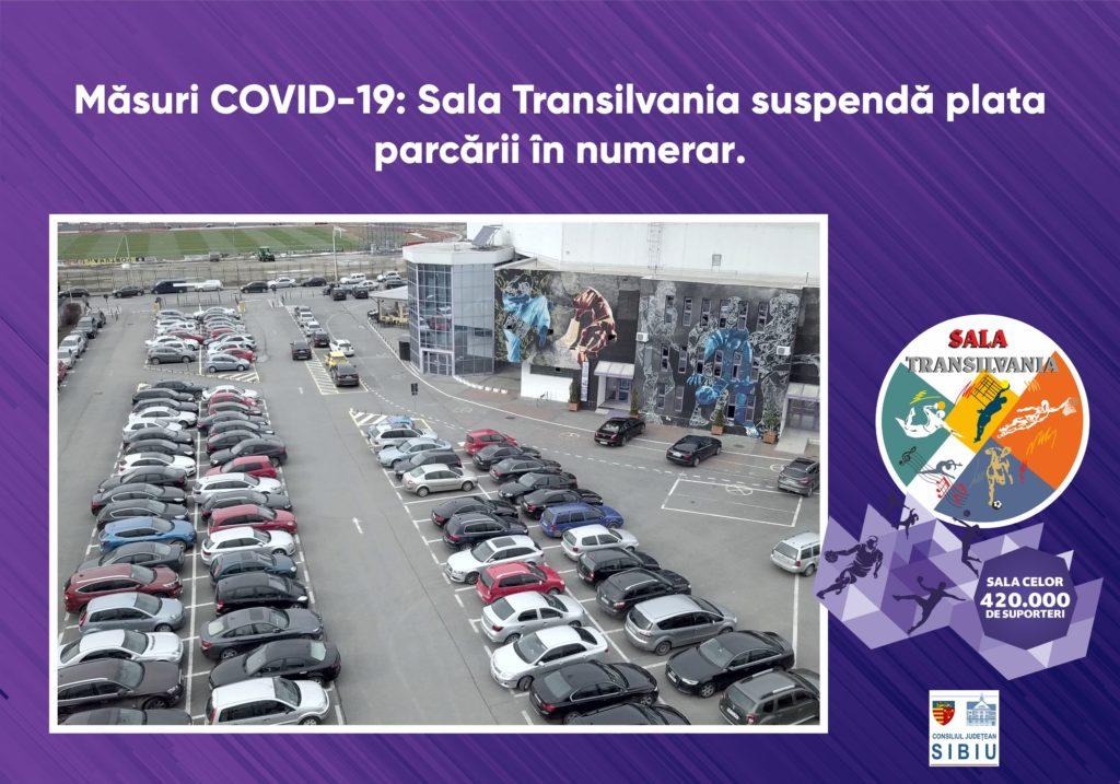 Până în 31 martie nu se mai poate plăti CASH parcarea de la Sala Transilvania