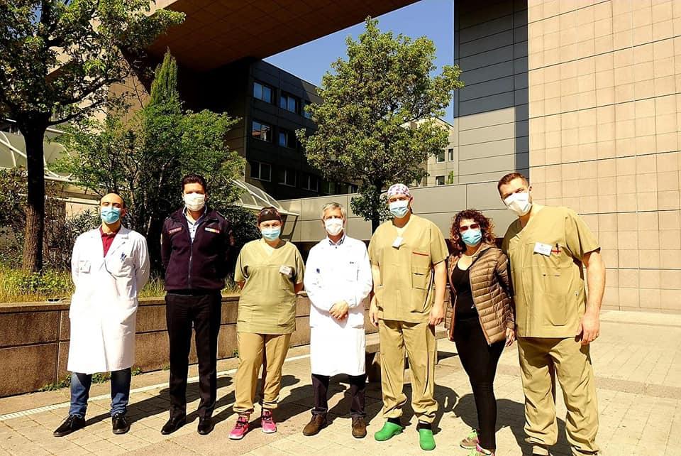 FOTO | Joe Stroescu, ofițer ISU Sibiu, relatează despre experiența trăită alături de medicii italieni