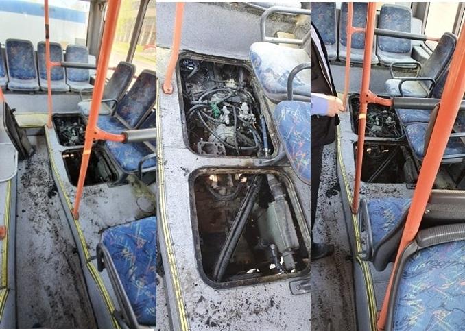 Update Foto | Autobuz TurSib cuprins de flăcări pe Bulevardul Coposu