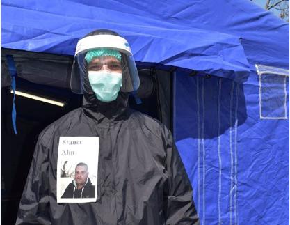 Eroii noștri sibieni: Soții Dorina și Alin Stancu- ambii fiind subofițeri sanitari