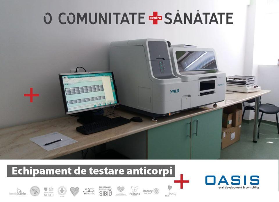 Un nou echipament pentru testarea coronavirusului, instalat la Spitalul Județean Sibiu
