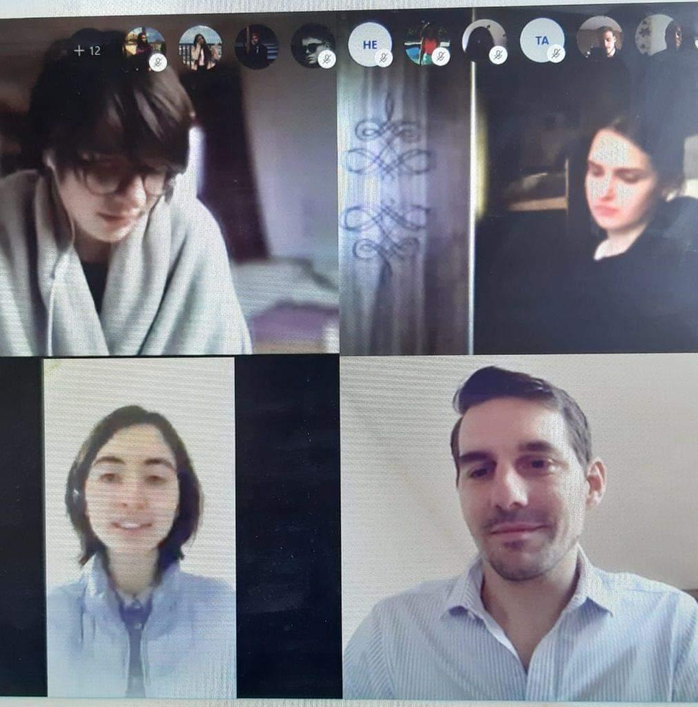 Principele Nicolae, în dialog online cu 28 de elevi sibieni