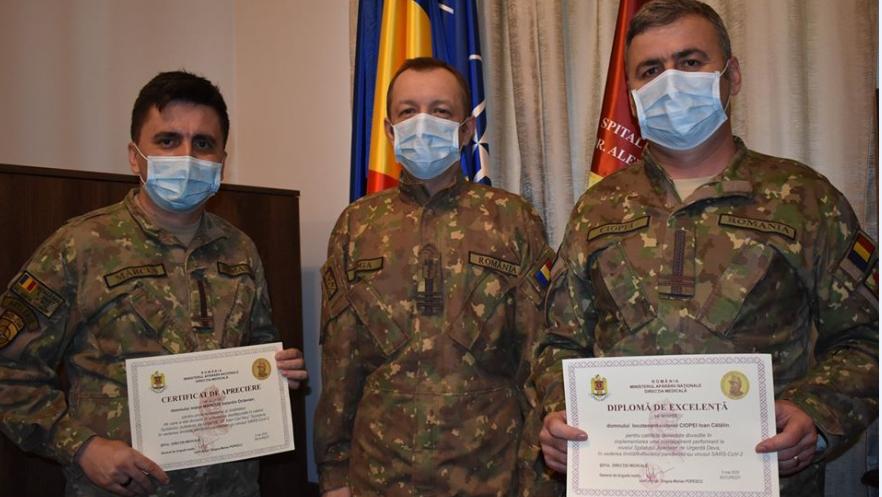 Doi medici militari sibieni, în echipa de conducere a spitalelor carantinate din Deva și Suceava