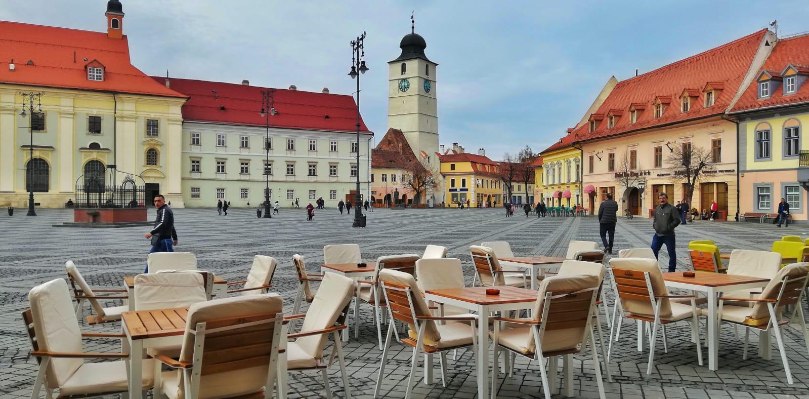 Primăria Sibiu instituie o taxă specială pentru terasele de pe domeniul public