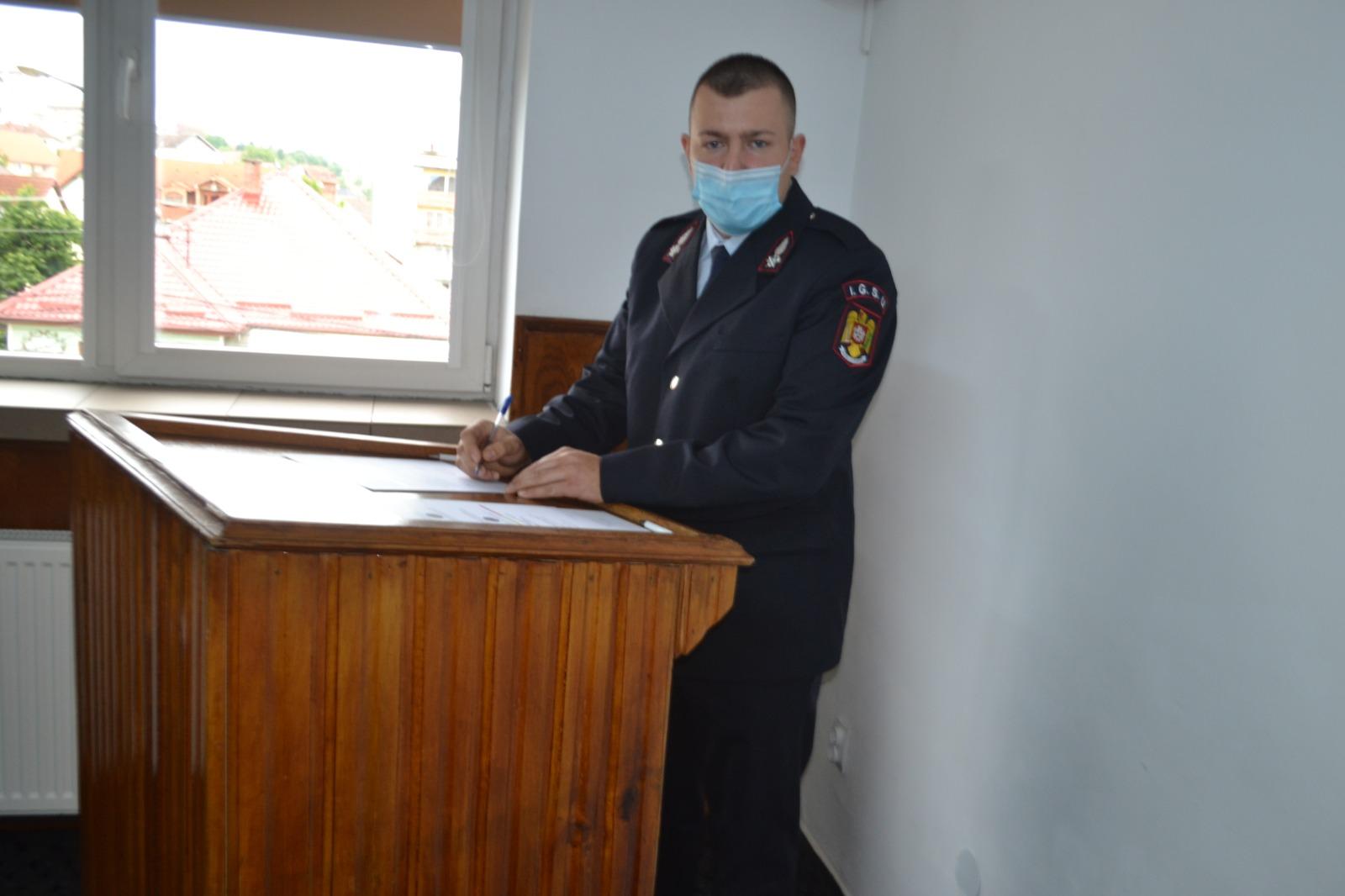 Foto | Jurământ militar la ISU Sibiu
