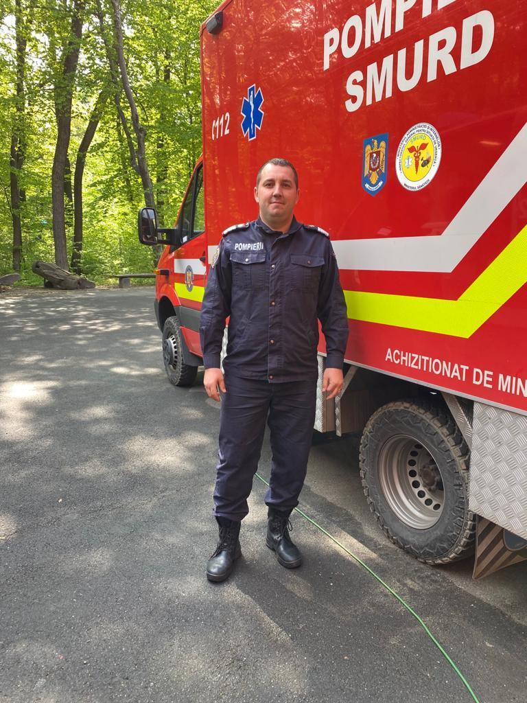Eroii noștri sibieni: Pompierul George-Ionuț Găman, plutonier major