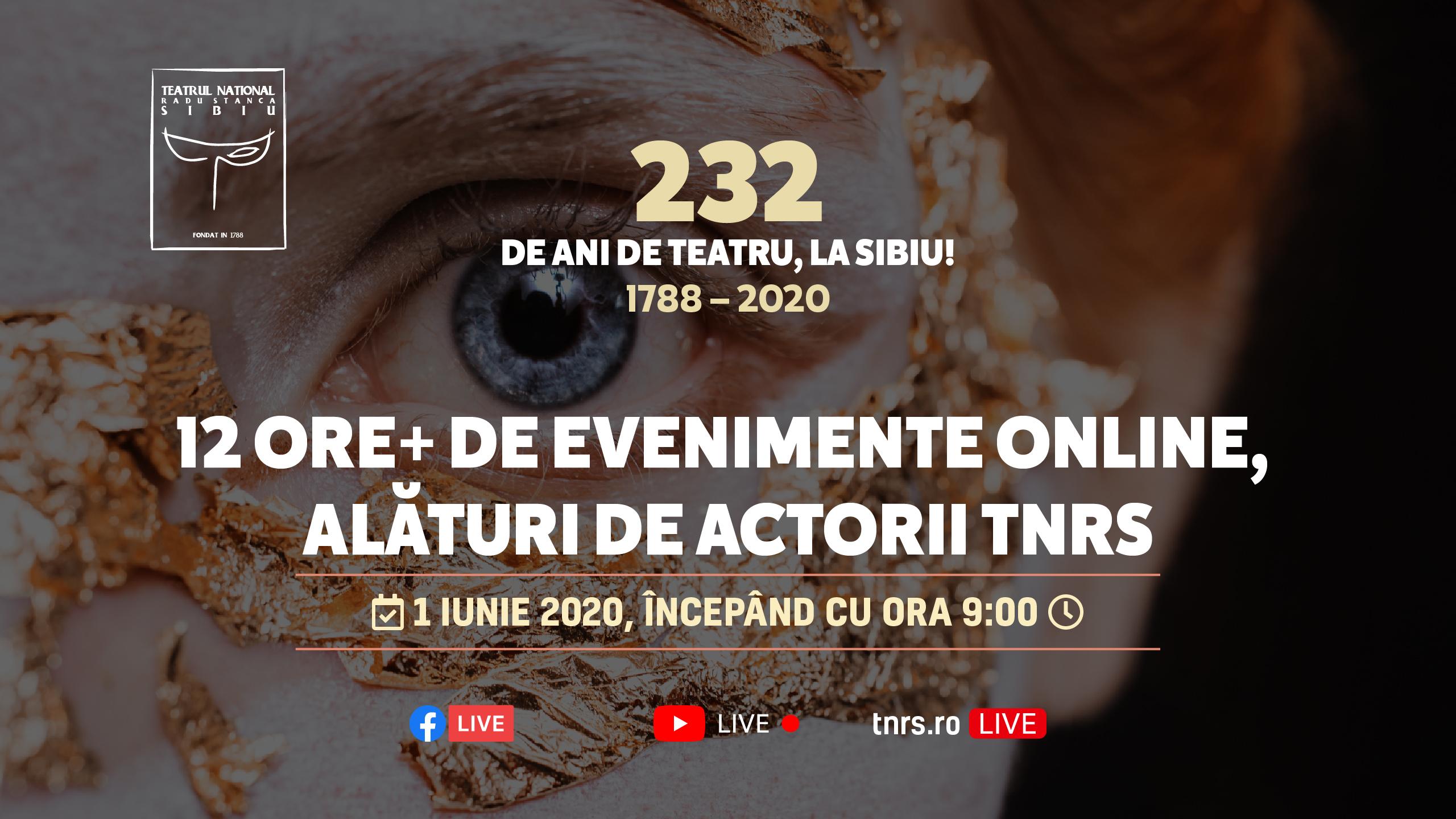 La mulți ani, TNRS! 232 de ani de teatru, la Sibiu!