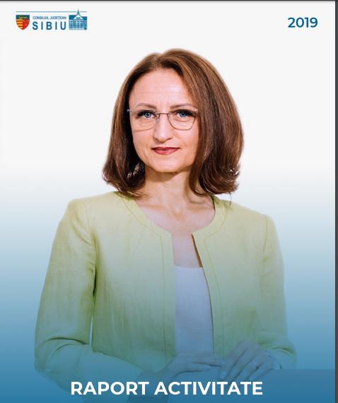 Daniela Cîmpean, președinta CJ Sibiu, își prezintă raportul de activitate pentru anul 2019