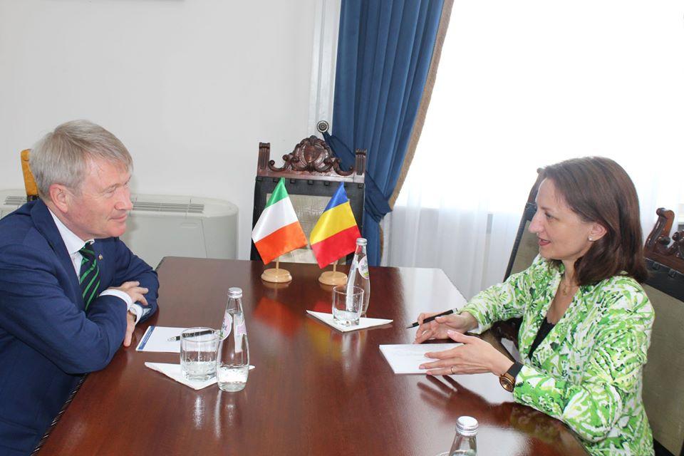 Paul McGarry, Ambasadorul Irlandei în România, în vizită la Consiliul Județean