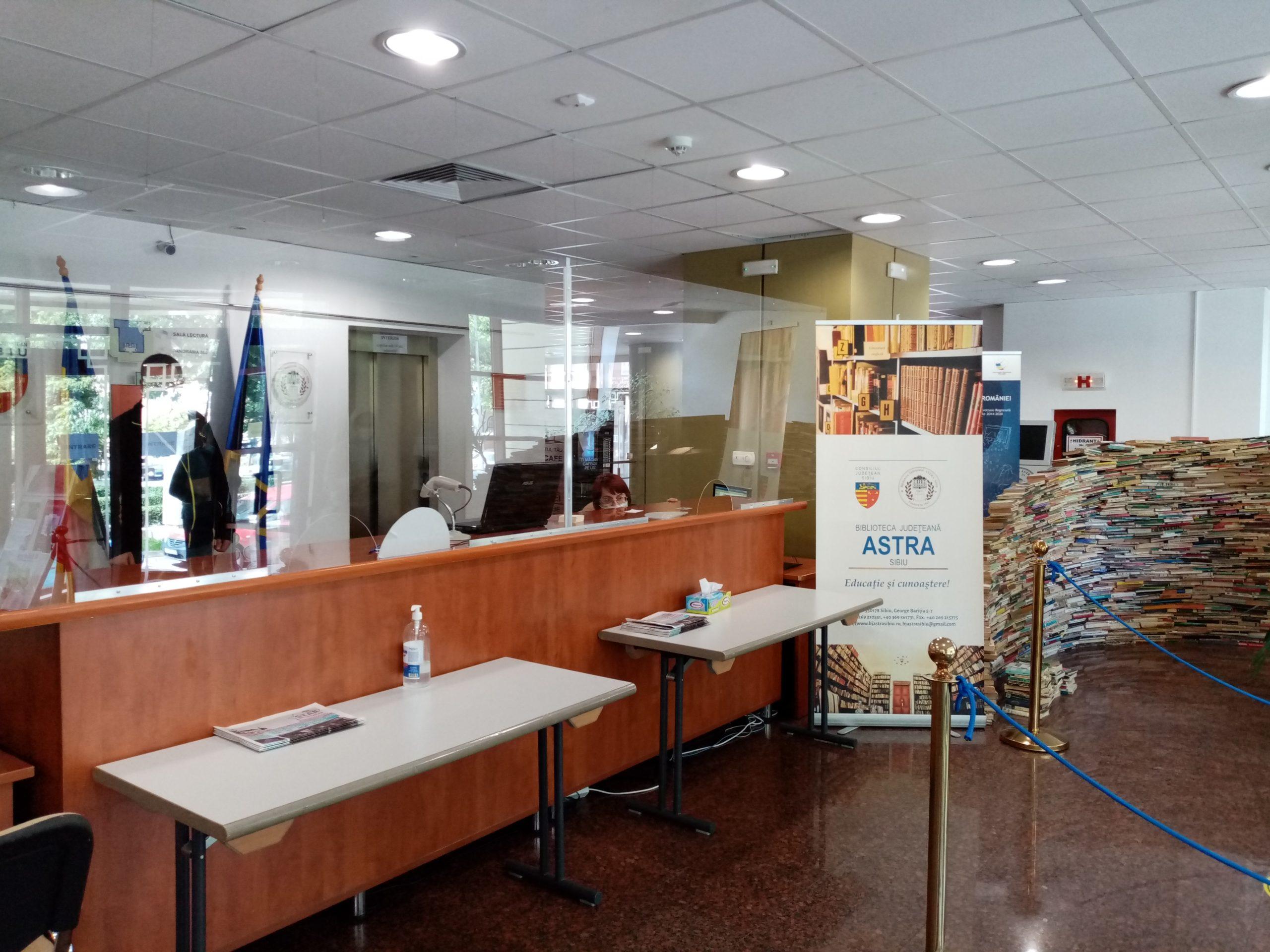 Biblioteca ASTRA Sibiu își păstrează măsurile de siguranță pentru public și angajați