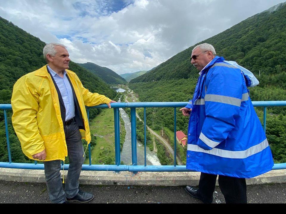 Prefectul județului Sibiu a efectuat o vizită la Barajul Gura Râului
