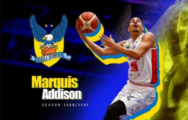 Marquis Addison este noul jucător al BC CSU Sibiu