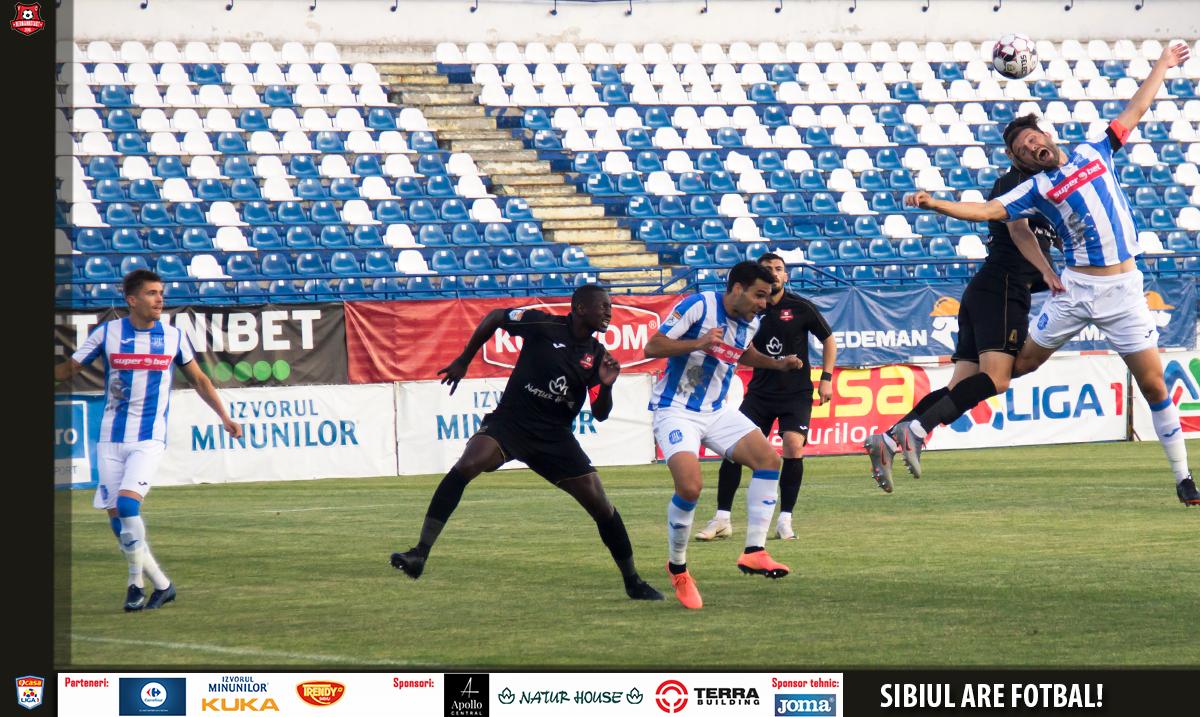 A.F.C.Hermannstadt s-a impus aseară în deplasare cu scorul de 3-2 în fața celor de la Poli Iași