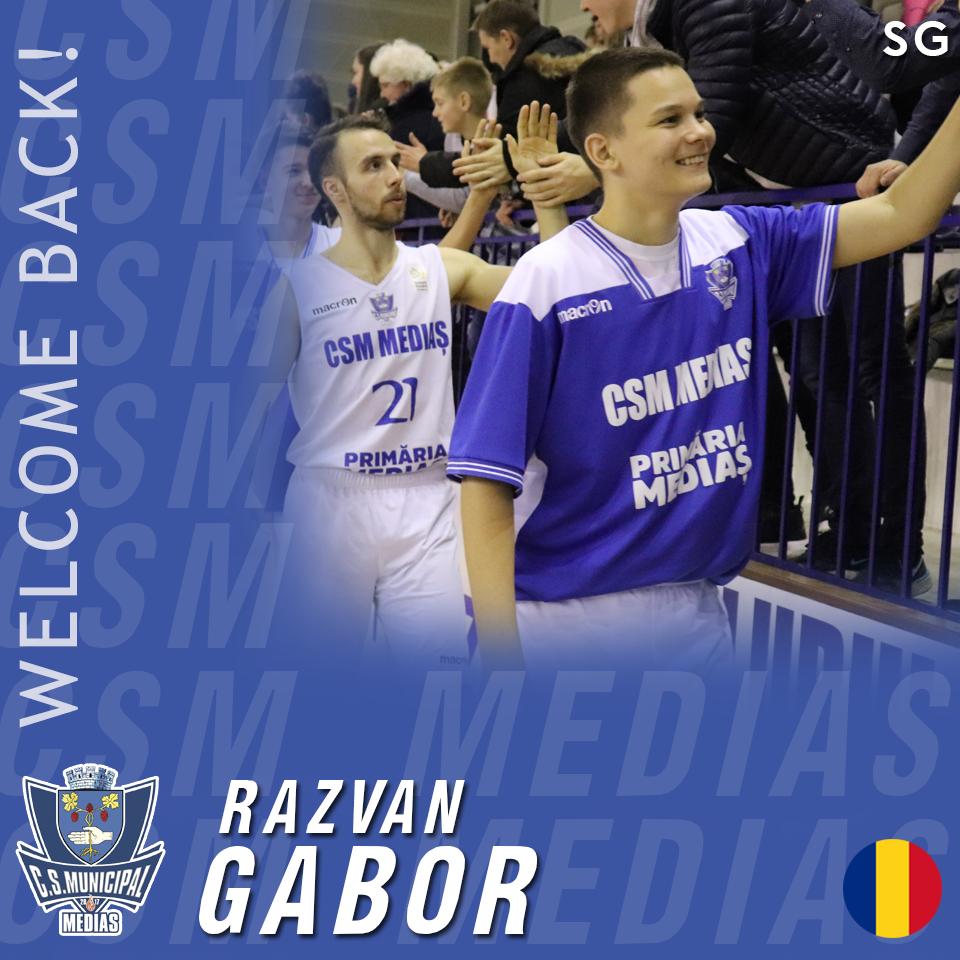 Răzvan Gabor: Sunt foarte bucuros să continui alături de CSM Mediaș