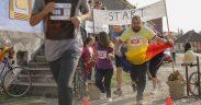 FOTO- 40 de persoane au alergat pentru amenajarea unui teren multifuncțional de sport în Săcădate