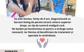 Bazar caritabil dedicat strângerii de fonduri pentru Denisa