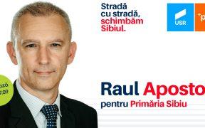 Raul Apostoiu, candidatul USR PLUS la Primăria Sibiu – propunere pentru o dezvoltare inteligentă a Sibiului (P.E.)