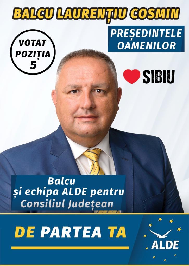 Cosmin Balcu, candidatul ALDE la președinția CJ Sibiu: Există o diferenţă majoră în ritmul de dezvoltare între oraşul Sibiu şi restul judeţului (P.E.)