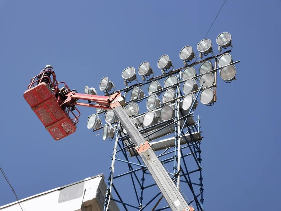 A fost reglată instalația de nocturnă pe Stadionul Municipal Sibiu