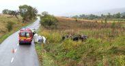 Șofer, transportat la UPU Sibiu cu traumatism cranio-celebral