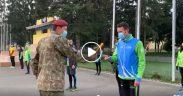 VIDEO- Studenții AFT au primit Ștafeta Veteranilor INVICTUS la Cimitirul Eroilor din Daia