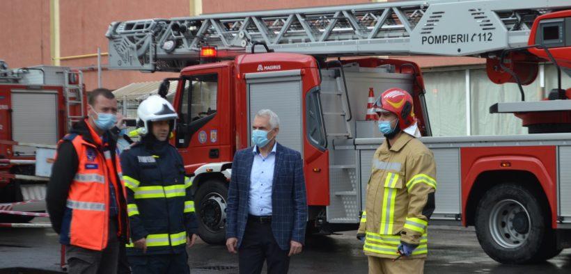 ISU SIBIU – Exercițiu amplu de cooperare la o societate de proiectare și execuție echipamente industriale din municipiul Sibiu