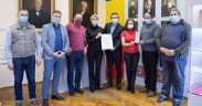 """Klaus Iohannis a acordat Bibliotecii Județene ASTRA, medalia aniversară """"Centenarul Marii Uniri"""""""