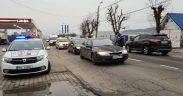 FOTO- Polițiștii rutieri, jandarmii și polițiștii locali fac controale în cele trei localități carantinate (Mediaș, Avrig și Orlat)
