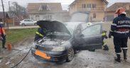 Pompierii medieșeni au intervenit la stingerea unui incendiu în Micăsasa