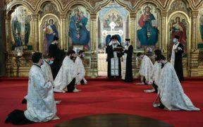 Slujbă de hirotesie în duhovnic la Catedrala mitropolitană din Sibiu
