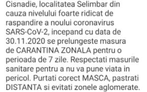 Mesaje RO-Alert transmise în zonele cu răspândire mare a Covid-19 din județul Sibiu