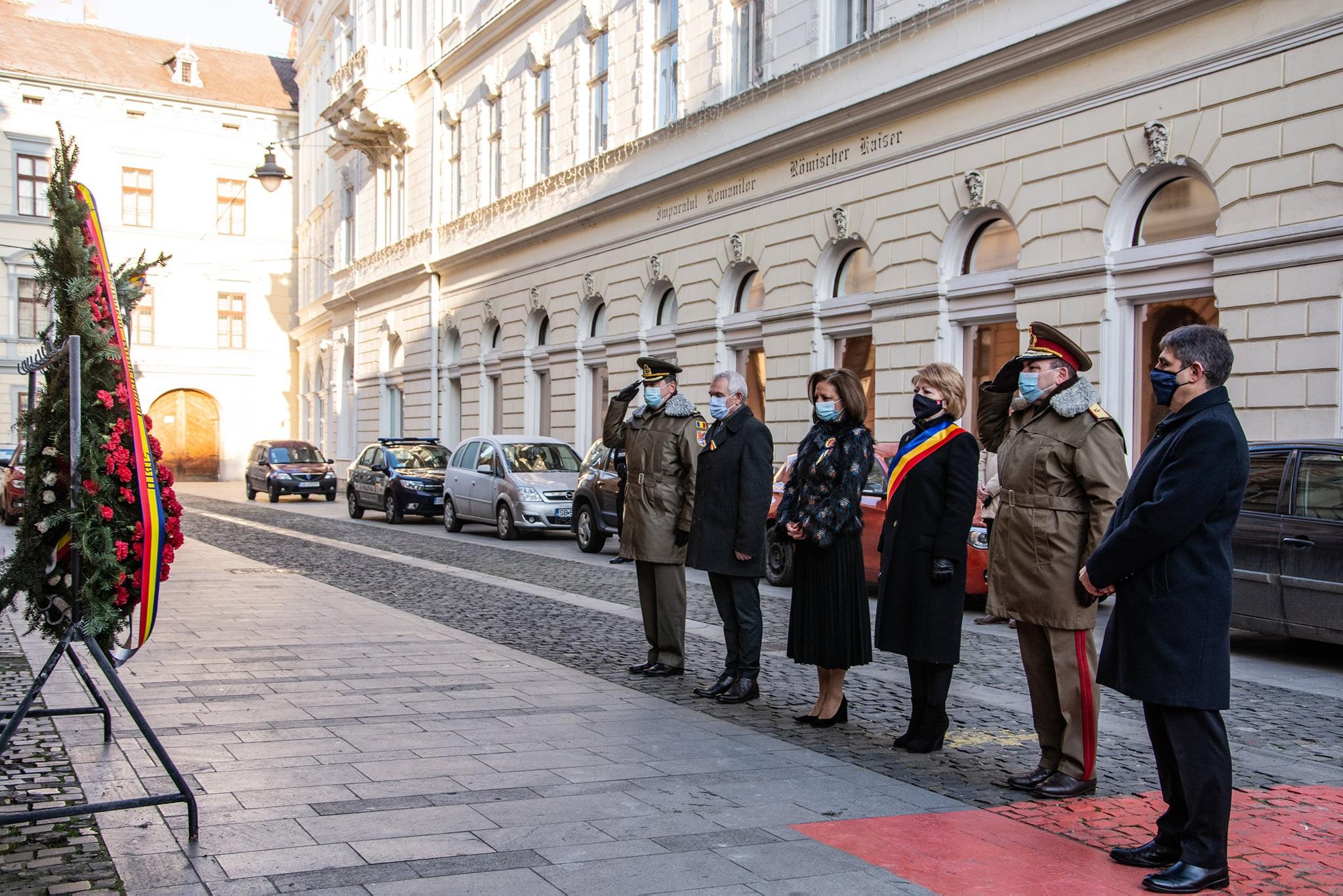Ceremonie restrânsă de 1 Decembrie în Sibiu, doar cu depunere de coroane de flori