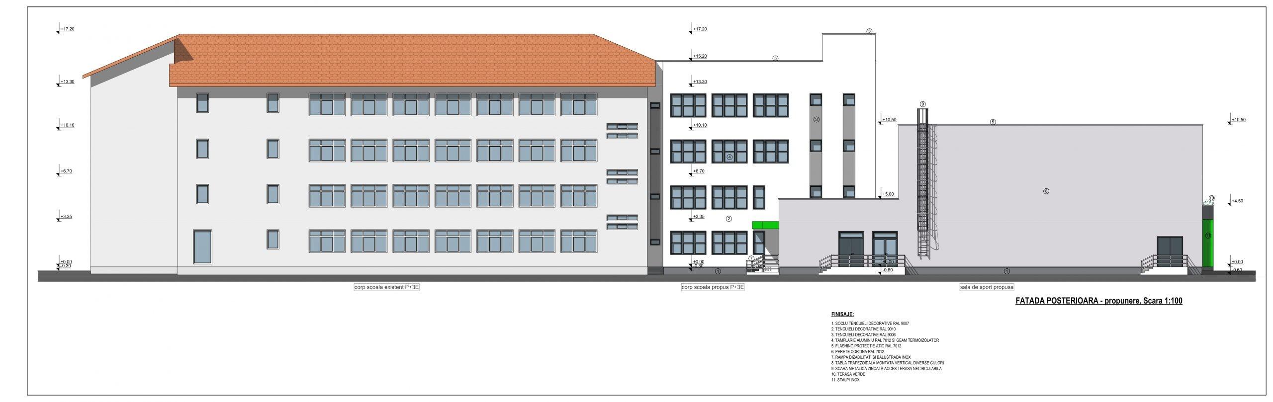 FOTO- Școala Regele Ferdinand va fi extinsă și va avea o sală de sport